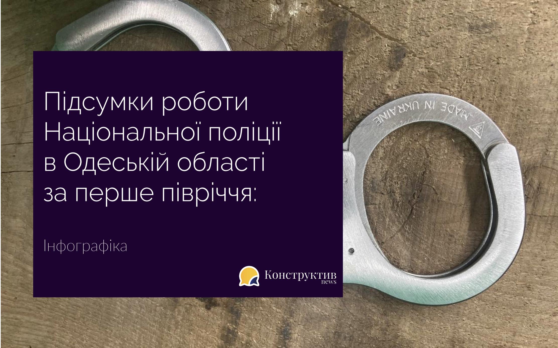 Підсумки роботи Національної поліції в Одеській області за перше півріччя: інфографіка